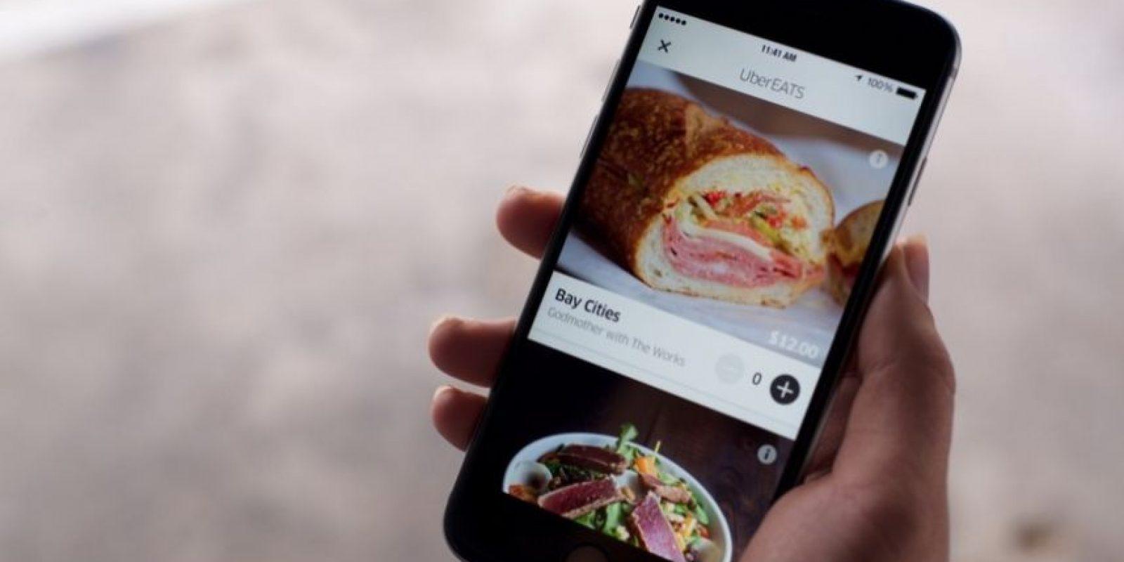 Pedir su comida es sencillo. Foto:Uber