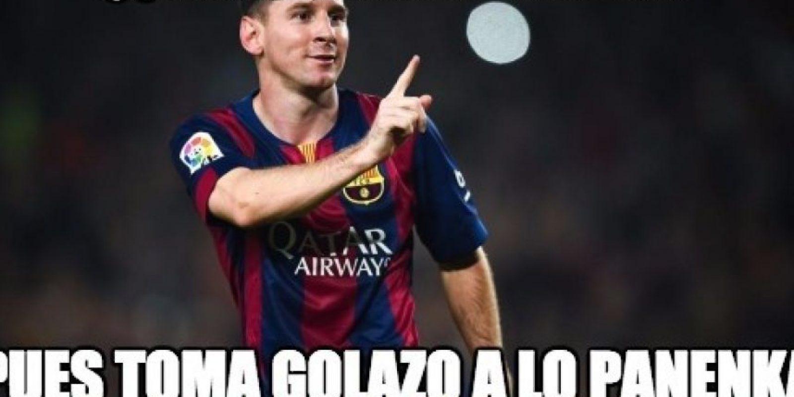 Y Messi se revindicó cobrando penales. Foto:memedeportes.com