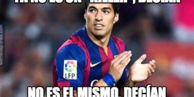 Luis Suárez desde hace mucho tiempo dejó de ser objeto de burlas, para recibir elogios. Foto:memedeportes.com
