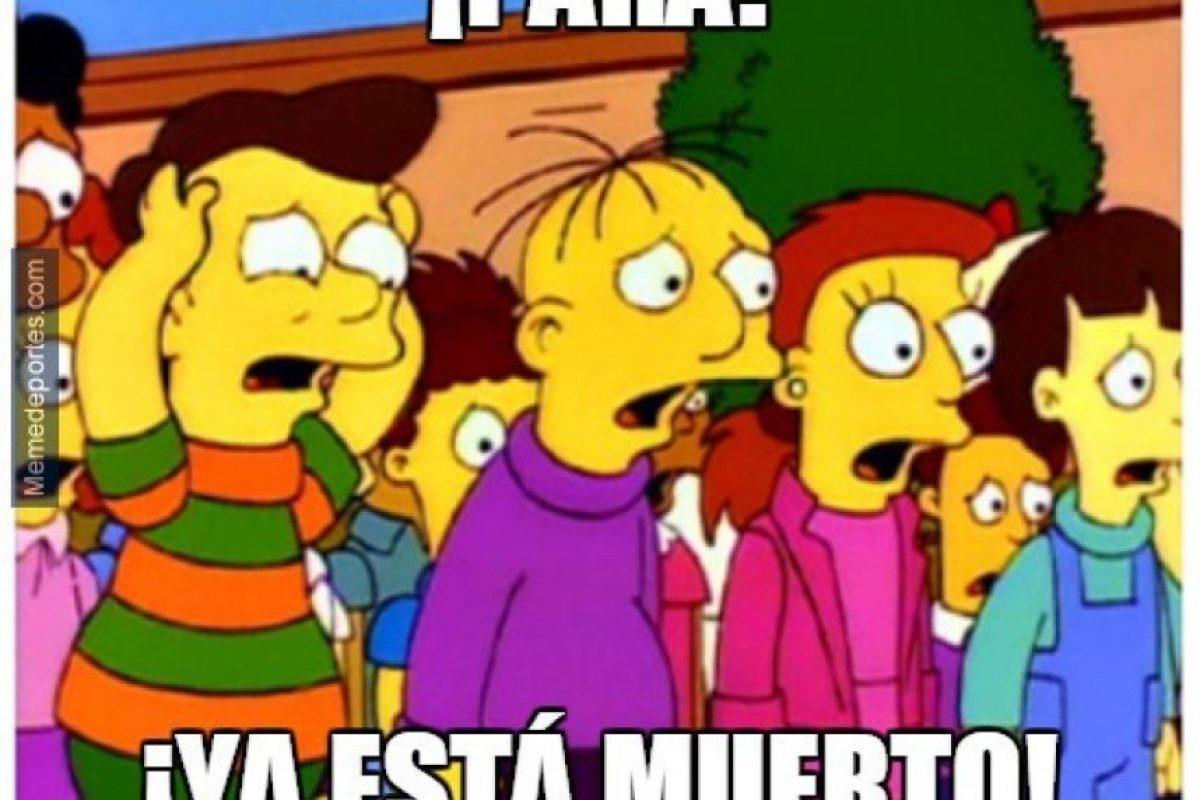 """Desde el mediotiempo comenzaron a pedir """"piedad"""" para el equipo madrileño. Foto:memedeportes.com"""