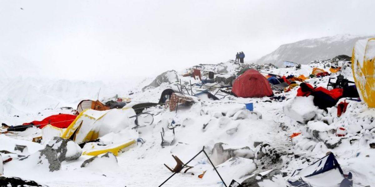 Fotos: Fotógrafo capturó la avalancha en el Everest después del terremoto