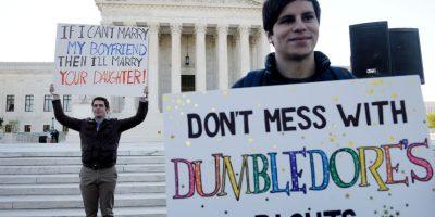 La Corte Suprema escuchó un debate histórico sobre el derecho de las parejas homosexuales a contraer matrimonio en todo Estados Unidos. Foto:Getty Images