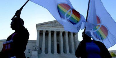 Nueve jueces del Supremo escucharon argumentos a favor y en contra de estas uniones Foto:Getty Images