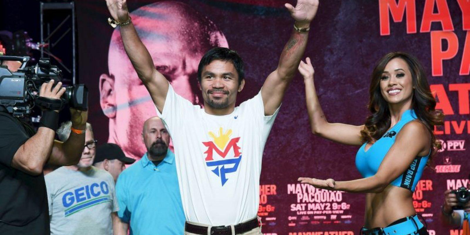 """""""Pacman"""" arribó al Casino Mandalay Bay de una forma más discreta Foto:Getty Images"""