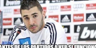 """Incluso Benzema considera rezarle a """"Chichadios"""". Foto:memedeportes.com"""