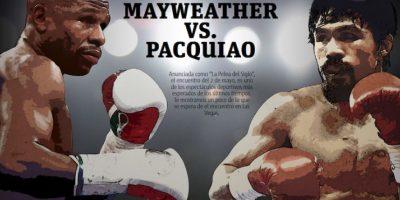 """Anunciada como """"La Pelea del Siglo"""", el encuentro del 2 de mayo entre Floyd Mayweather Jr. y Manny Pacquiao es uno de los espectáculos deportivos más esperados de los últimos tiempos. Foto:MWN"""