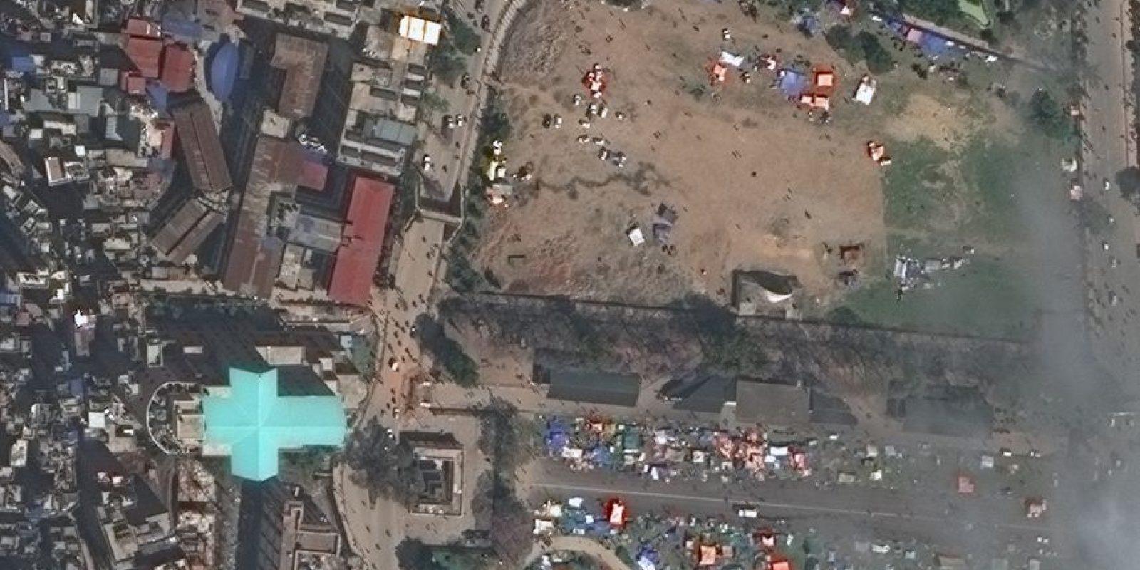 Katmandú, capital de Nepal Foto:Vía DigitalGlobe