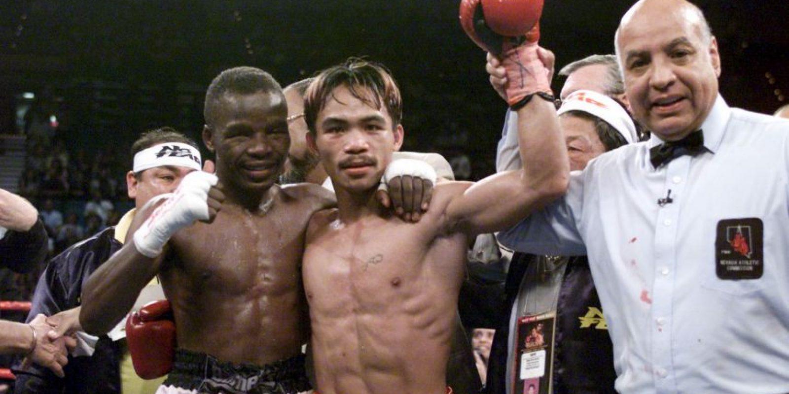 Así lucía el boxeador filipino en 2001 a los 23 años Foto:Getty Images