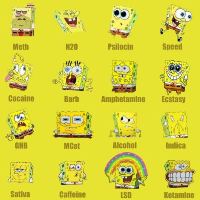 También, que impulsaba a consumir todo tipo de drogas, ya que todos los personajes de la serie son adictos que actúan dependiendo del estupefaciente que ingieran. Foto:vía Nickelodeon