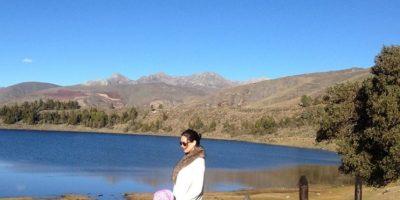 La actríz con su hija en laguna de Mucubají Foto:Vía Instagram @monicaspear