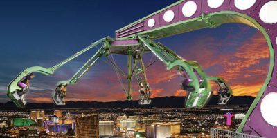 """2. """"Insanity"""" en Las Vegas. Girara a una altura de 300 metros. Durante los giros los pasajeros se encuentran boca abajo. Foto:Wikimedia"""