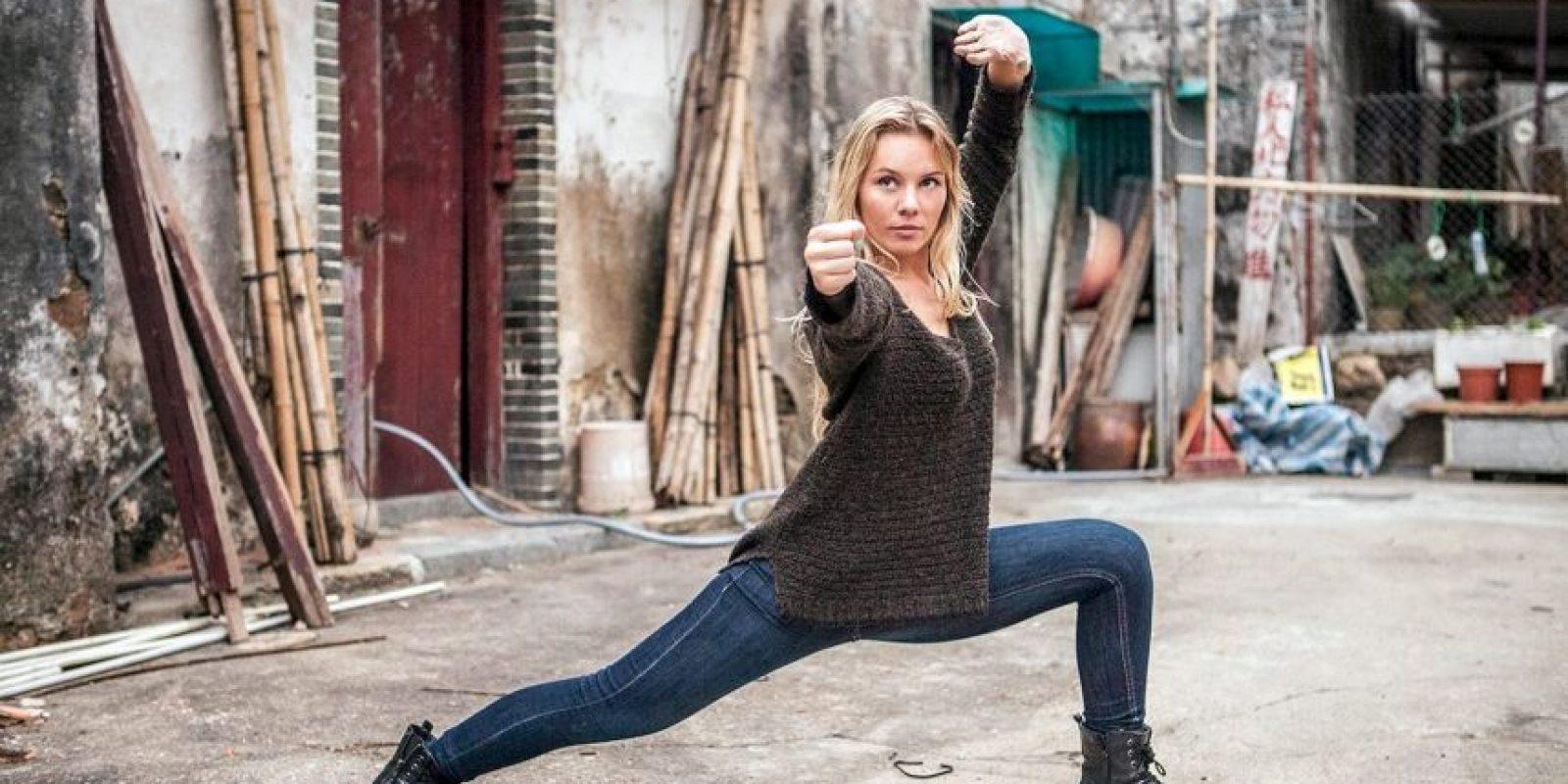 """Amy Johnston interpretó a """"Black Widow"""" en la cinta """"Captain America: Winter Soldier"""" Foto:Vía Facebook.com/Amy-Johnston"""