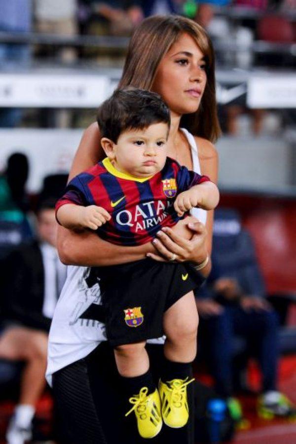 """Messi tenía 9 años y Antonella 8 . Se la pasaban juntos en Rosario, donde todos los veían como """"la pareja del lugar"""". Foto:Getty Images"""