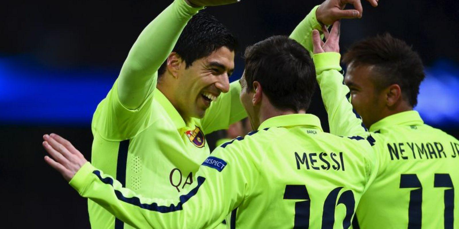 1. Messi – Suárez -Neymar (Barcelona/La Liga) Foto:Getty Images