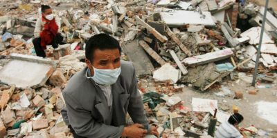 3. Sichuan, China, 2008. Magnitud 8.0. Fallecieron 69 mil 227 personas Foto:Getty Images