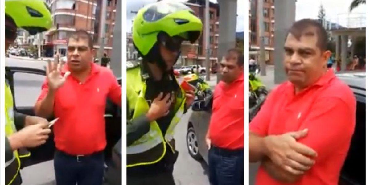 VIDEO: Policía le dio tremenda lección a conductor altanero