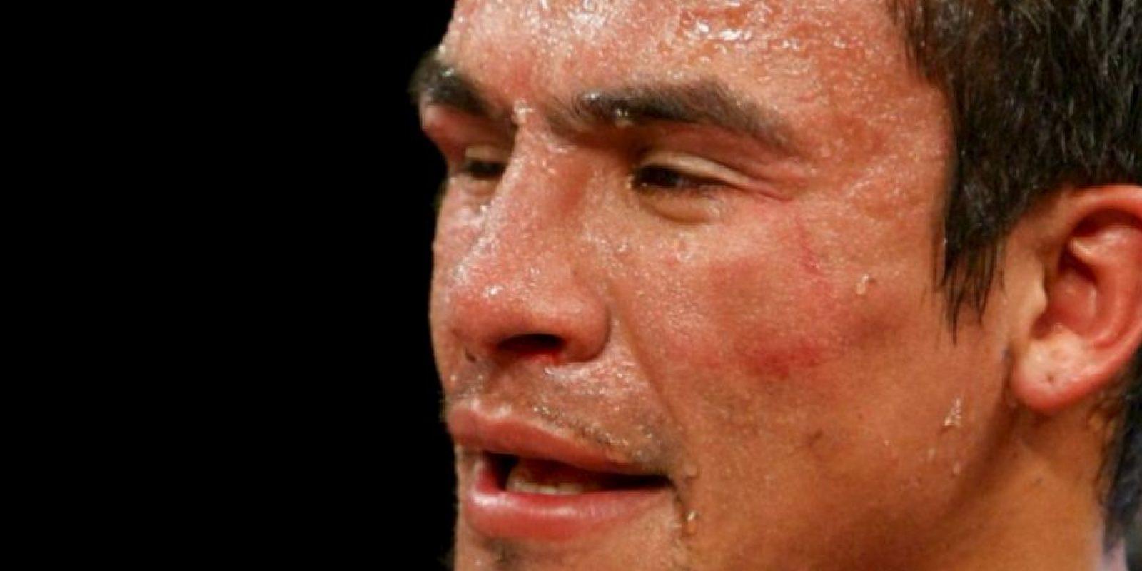 Uno de los mejores púgiles aztecas también fue castigado por Mayweather en 2009 Foto:Getty Images