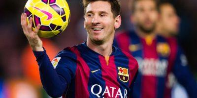 """De los 102 goles de la """"MSN"""", 49 tantos son de Messi. Foto:Getty Images"""