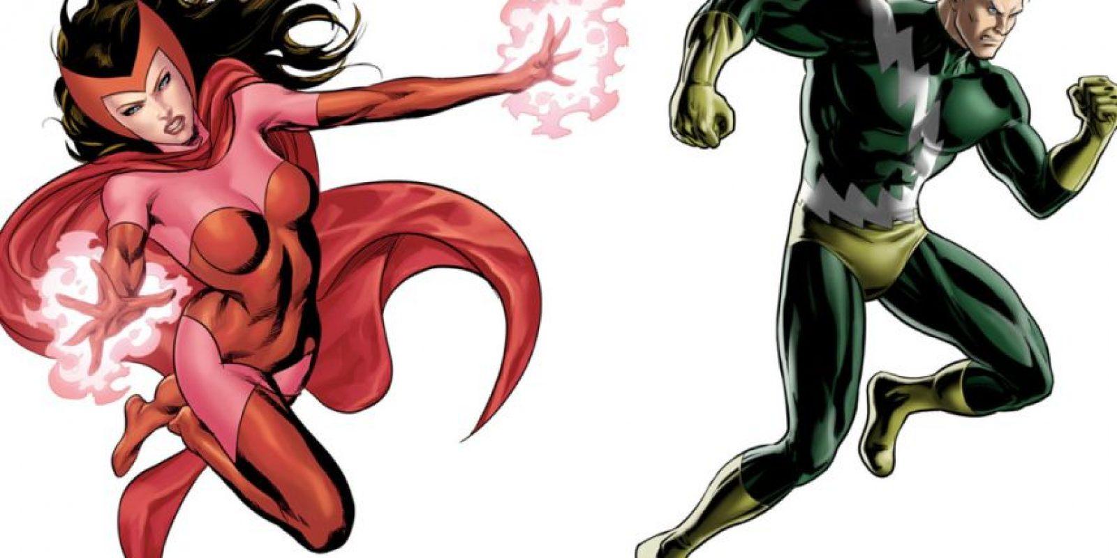 """La Bruja Escarlata y QuickSilver, aunque villanos en esta película, también pasan a ser parte de """"Los Vengadores"""". En el cómic, Iron Man es quien los invita a unirse al grupo. Foto:vía Marvel"""