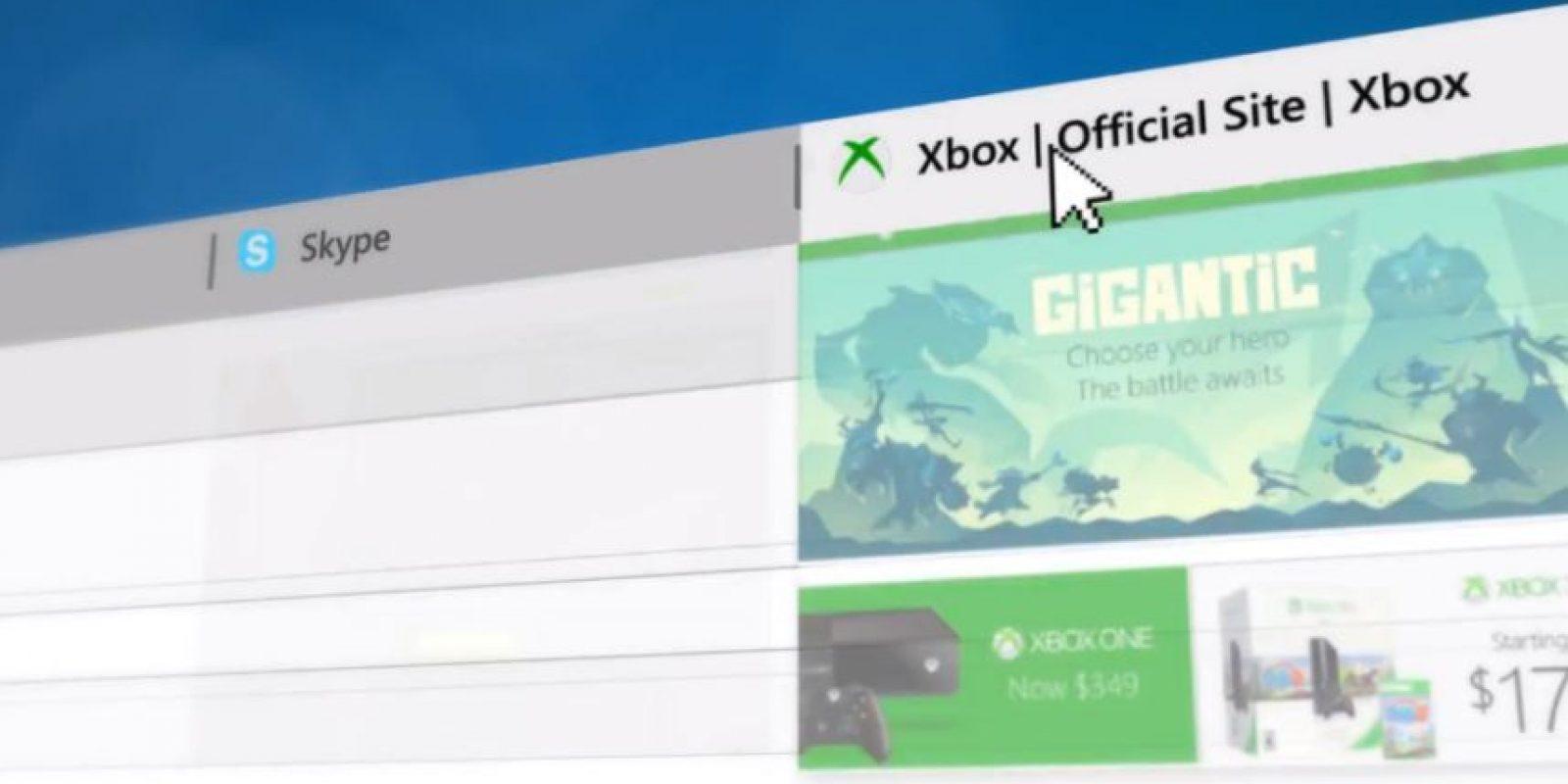 Se añadieron vistas de las páginas favoritas como una barra fija Foto:Microsoft Windows