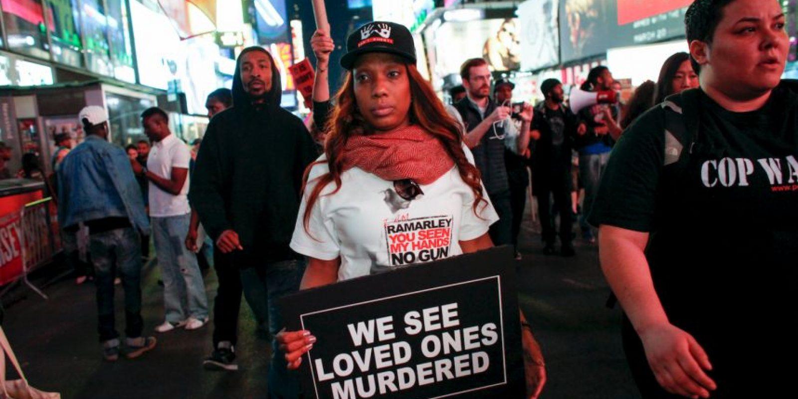 La protesta fue convocada en Union Square Foto:Getty Images