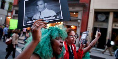 La manifestación comenzó hacia las 18.00 hora local y continuó dos horas después Foto:Getty Images