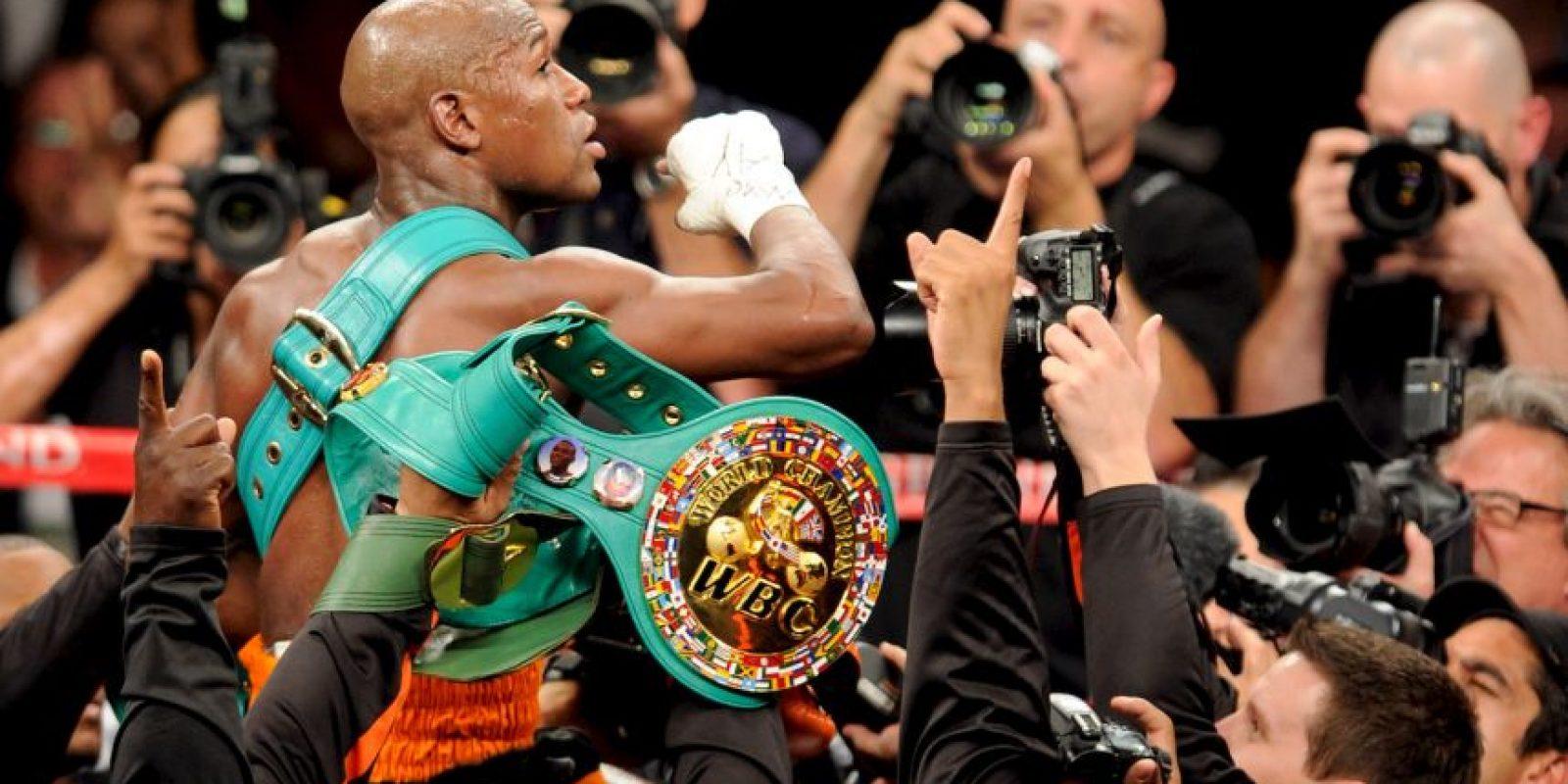 """En 2011 se enfrentó a Floyd Mayweather y perdió la pelea con gran polémica por una acción de """"Money"""". Foto:Getty Images"""