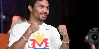 4. Manny Pacquiao tiene 57 victorias, cinco derrotas y dos empates Foto:Getty Images