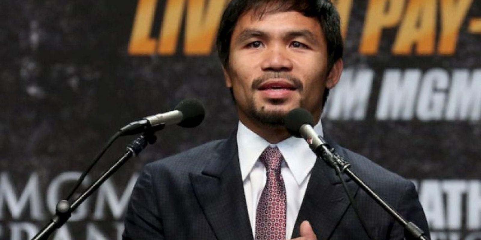 13. El segundo sitio de los boxeadores más ricos es de Manny que registra 26 millones de dólares por año Foto:Getty Images