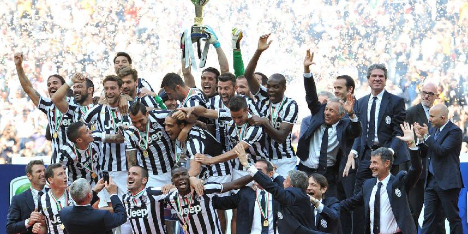 En 2013-2014 festejaron así. Foto:Getty Images