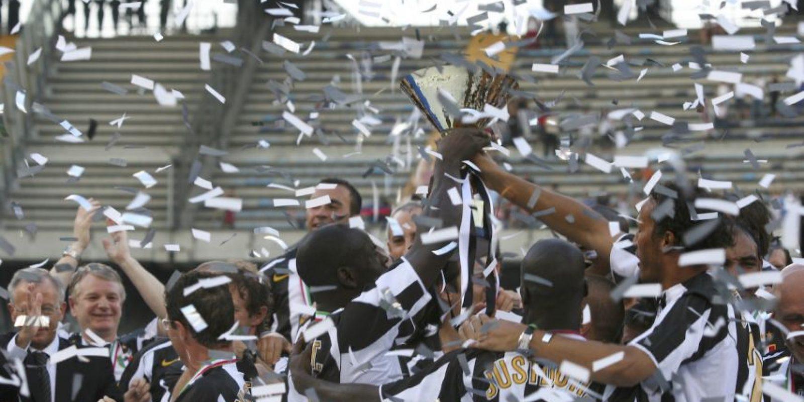 """Con los títulos de 2011-12, 2012-13, 2013-14, 2014-15, la """"Juve"""" suma 31 coronas en Italia Foto:Getty Images"""