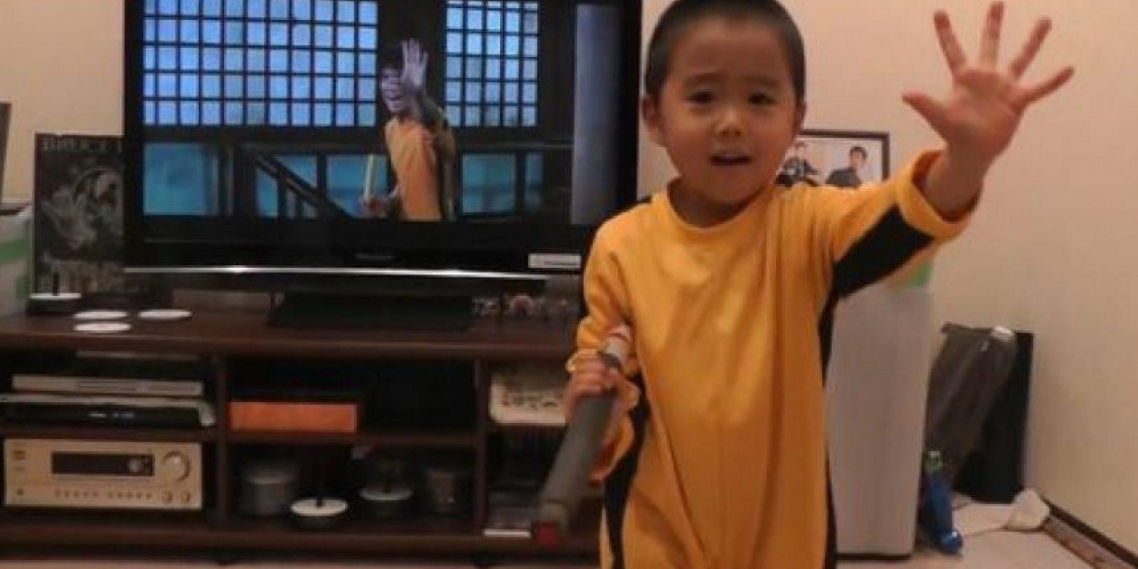 Su padre lo entrena Foto:vía www.facebook.com/ryu.bruce.3