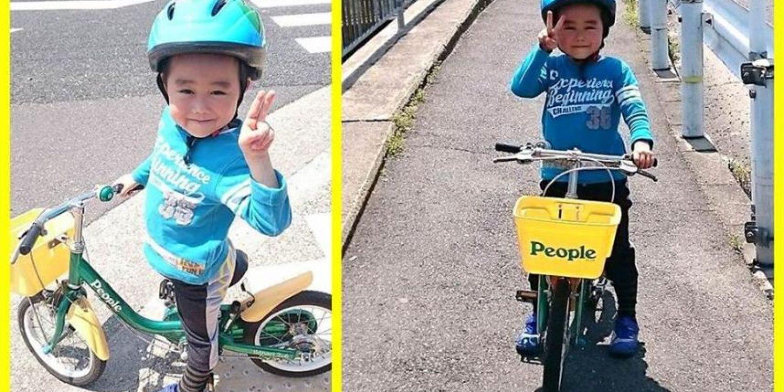 Obvio, es un niño de 5 años y le gusta divertirse. Foto:vía www.facebook.com/ryu.bruce.3