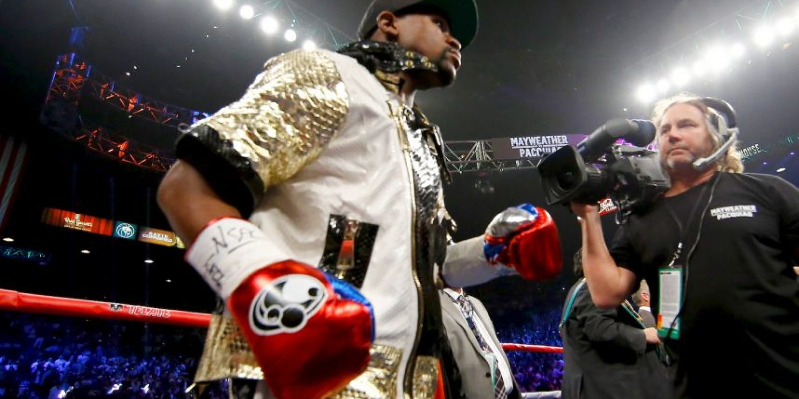 Y así, Floyd Mayweather. Foto: Getty Images