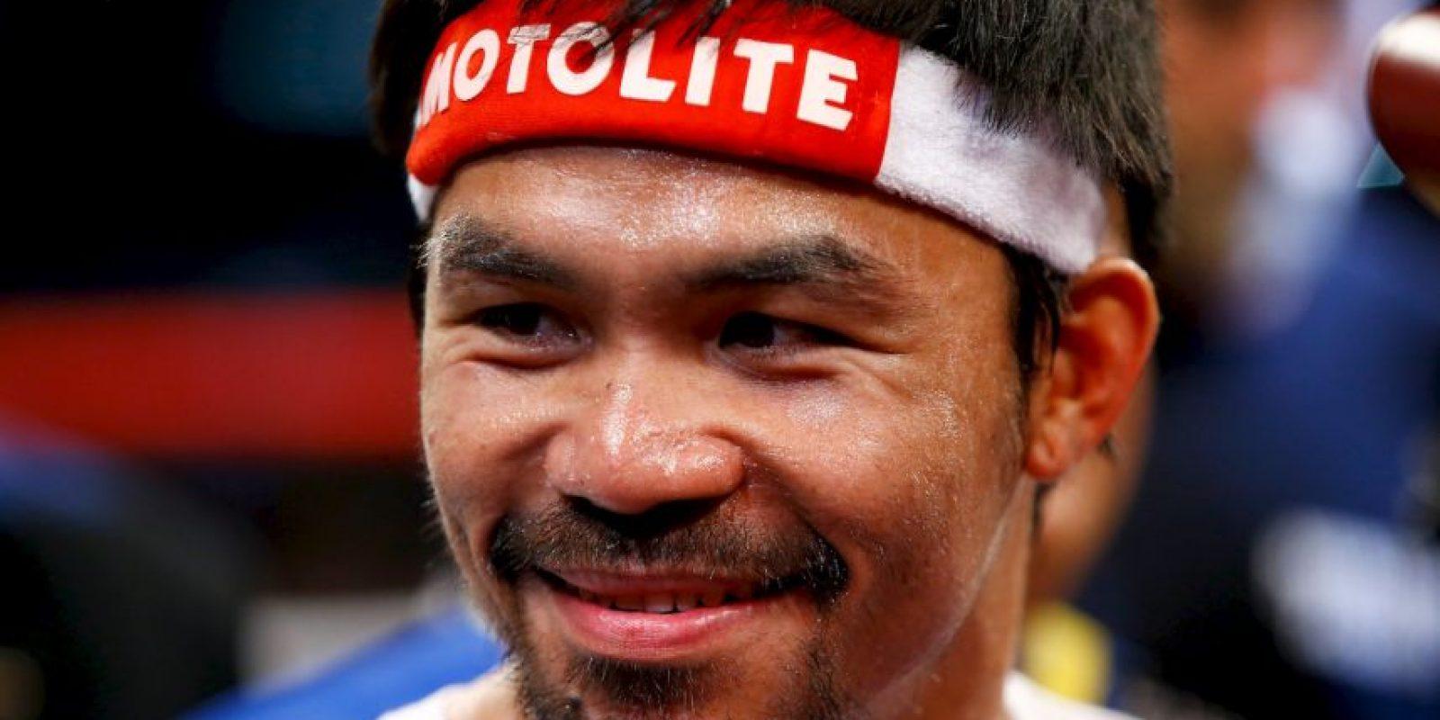 El filipino antes de iniciar el combate Foto:Getty Images