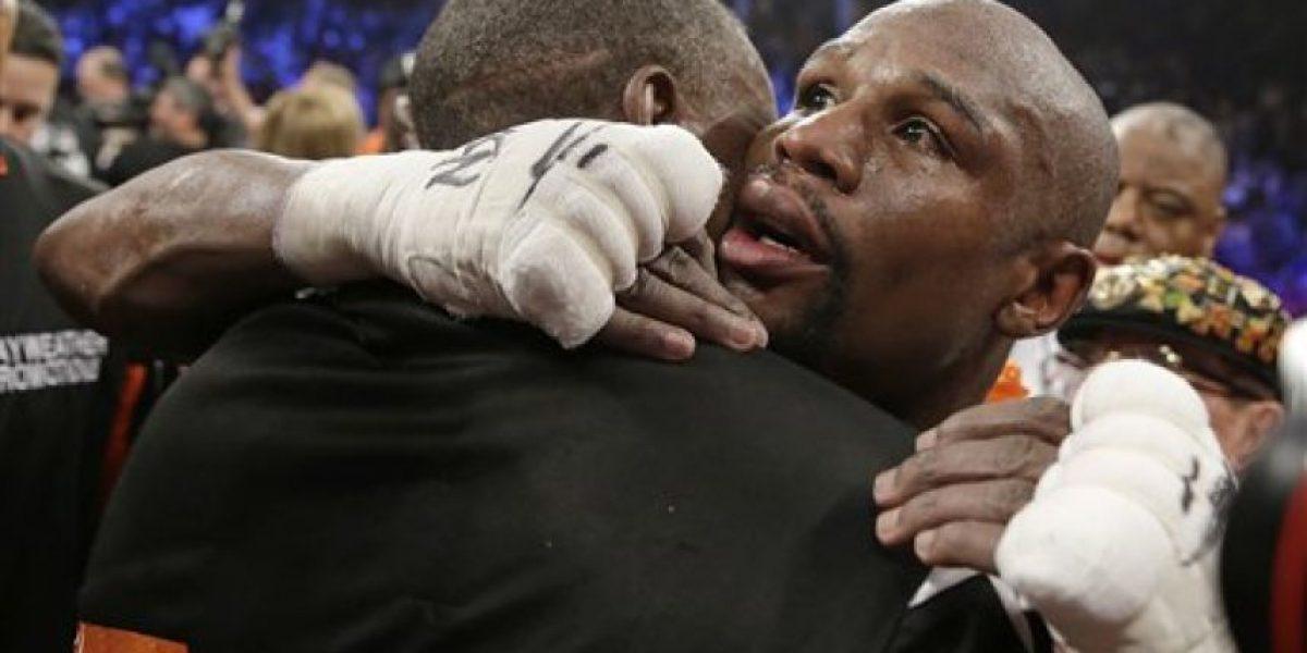 FOTOS: Así fue la celebración de Floyd Mayweather tras ganar la