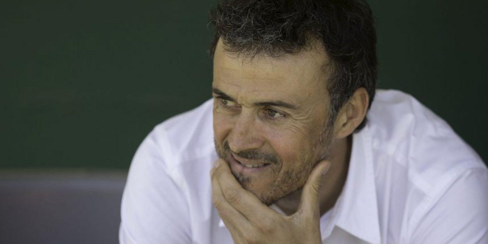 Luis Enrique tiene 44 años y es líder de España con el Barcelona Foto:Getty Images