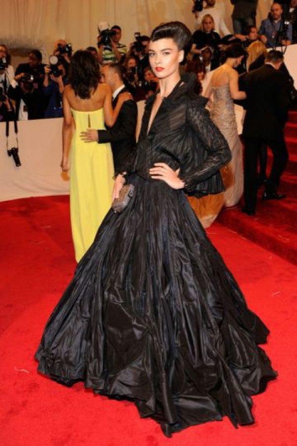 Crystal Renn se vistió con una bolsa de basura rompiéndonos el corazón a todos en 2011. Foto:vía Getty Images