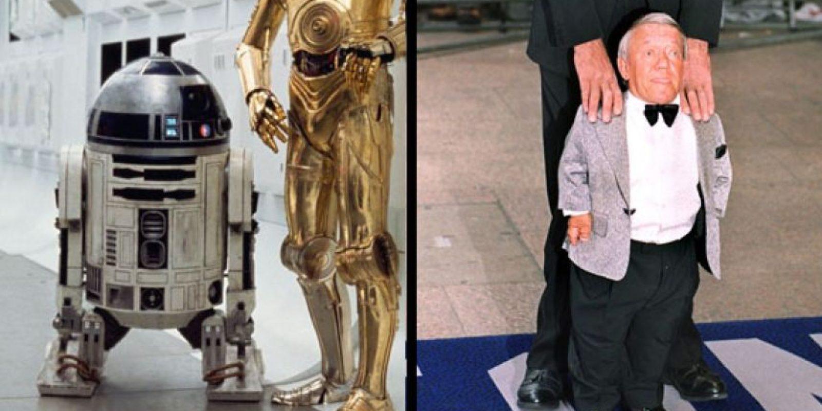 Kenny Baker interpretó a R2D2. Ya no está activo. Foto: The Hollywood Reporter.