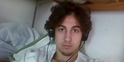 Dzhokhar Tsarnaev espera la declaración final de su sentencia. Foto:AFP