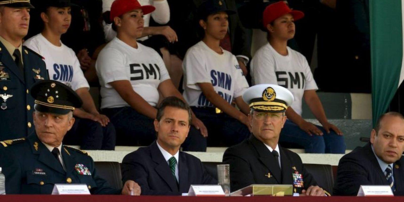 En la ceremonia tomó protesta de 972 soldados del Servicio Militar Nacional. Foto:Facebook.com/EnriquePN