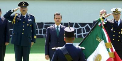 """El presidente Enrique Peña Nieto utilizó la ceremonia de este año para asegurar que los actos violentos en el país """"fortalecen la determinación del Estado mexicano para hacer valer la Ley en todo el territorio nacional"""" Foto:Facebook.com/EnriquePN"""