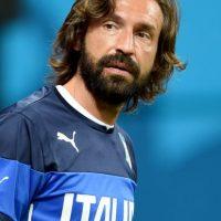 """Muchos futbolistas llevan barba, pero ninguna como la de Pirlo, la cual se ha convertido en el """"distintivo"""" de su aspecto personal. Foto:Getty Images"""