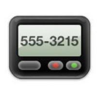 Este dispositivo se utilizaba en conjunto con un celular para dejar un mensaje a un contacto mediante una operadora telefónica. En la actualidad, únicamente se utiliza en hospitales. Foto:emojipedia.org
