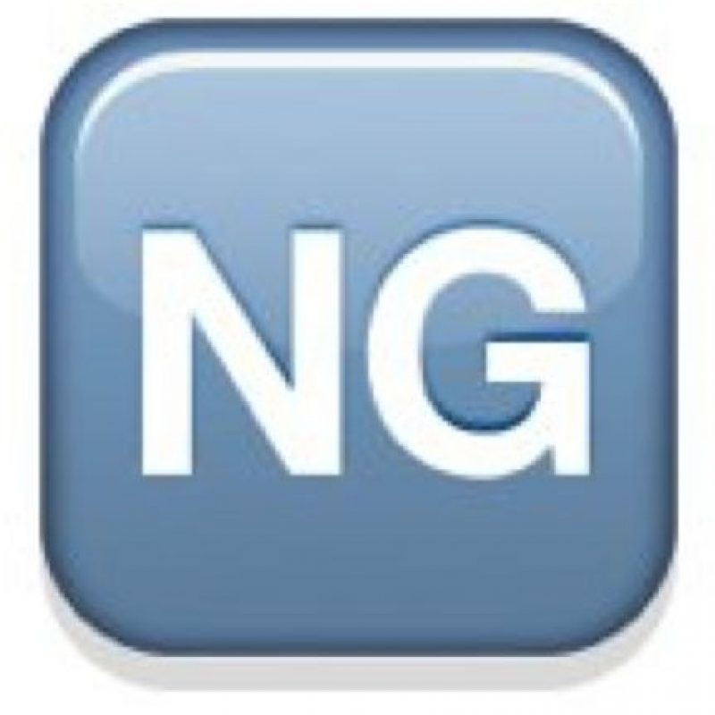 """A pesar de que parece extraño, estas letras son las iniciales de """"No Good"""" o """"no es bueno"""". Su uso comenzó en los créditos de los programas de televisión japoneses. Foto:emojipedia.org"""