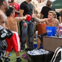 Justin Bieber organizó una fiesta previa al encuentro de Mayweather contra Pacquiao. Foto:Grosby Group