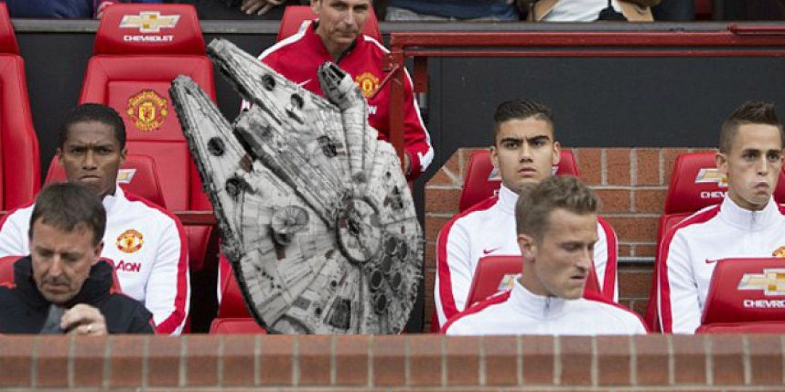 La foto con la que el Daily Mirror se burló de Falcao como parte del May the 4th. Foto:Tomada de mirror.co.uk