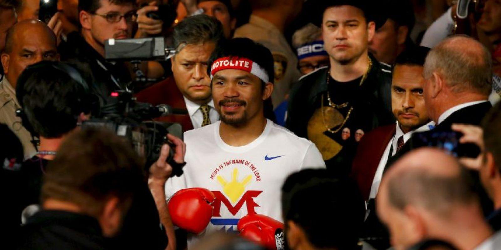 """Mayweather: """"Manny es un tremendo boxeador. Ahora sé porque es el gran peleador que todo mundo ha dicho"""". Foto:Getty Images"""