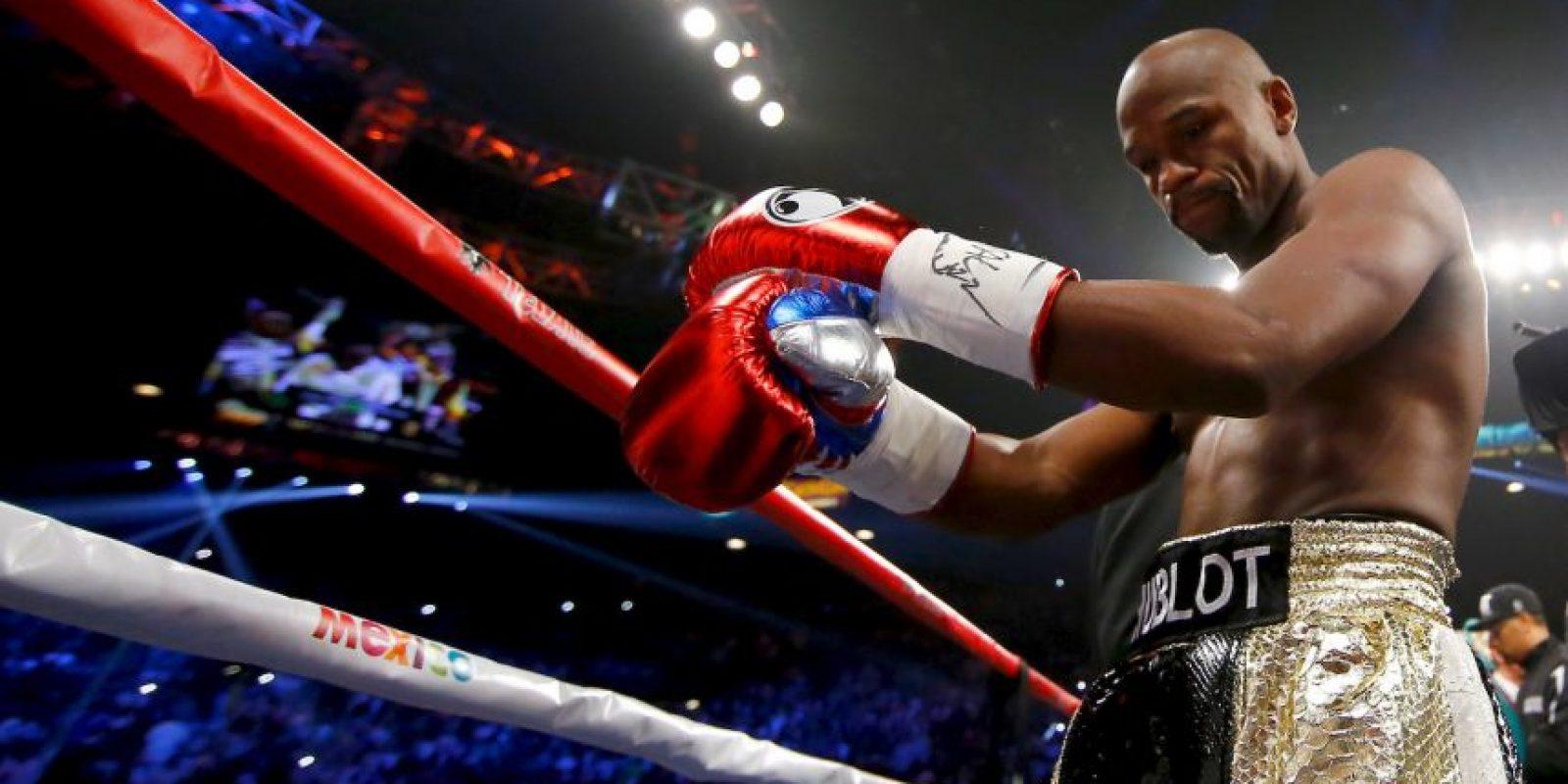 """Mayweather: """"Sabía que Manny iba a ganar algunos rounds, tuvo grandes momentos en la pelea y (yo) tenía que estar por fuera, ser inteligente, golpearlo, y mantenerlo dentro de la bolsa"""". Foto:Getty Images"""