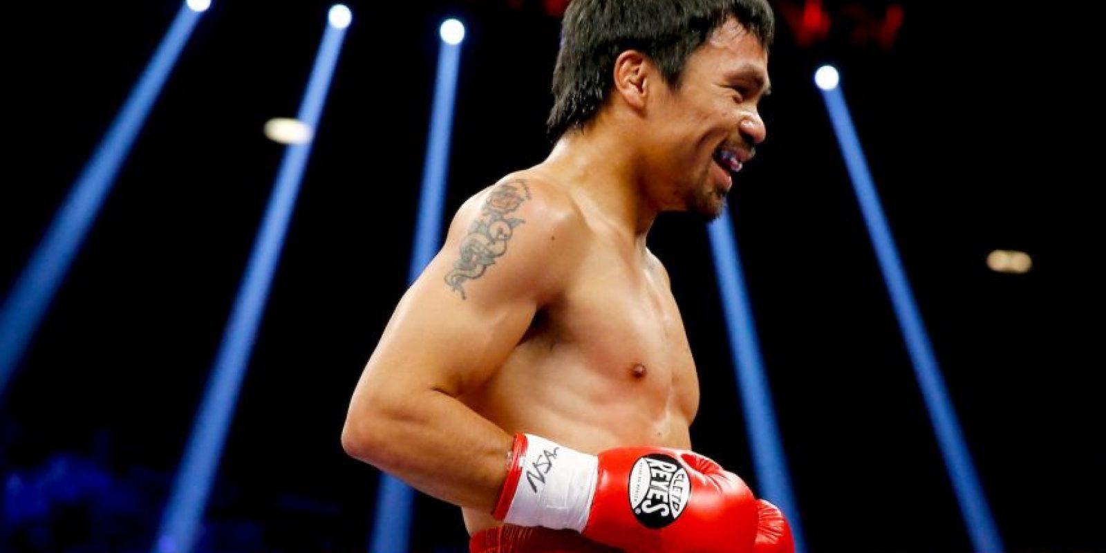 """Pacquiao: """"Él se movía por todos lados, era difícil conectarlo, pero cuando se paraba lo controlaba"""". Foto:Getty Images"""